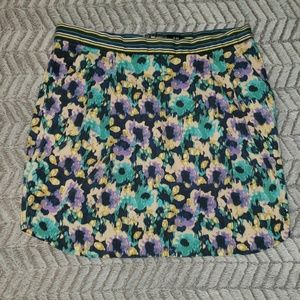 H&M Floral Skirt Cotton. Size 14